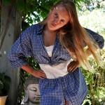 Francesca oh! Upcycled Boyfriend Shirt