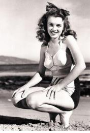 Marilyn Monroe Beach Photo