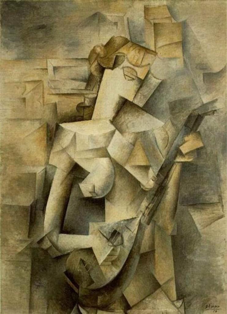 Woman Playing the Mandolin